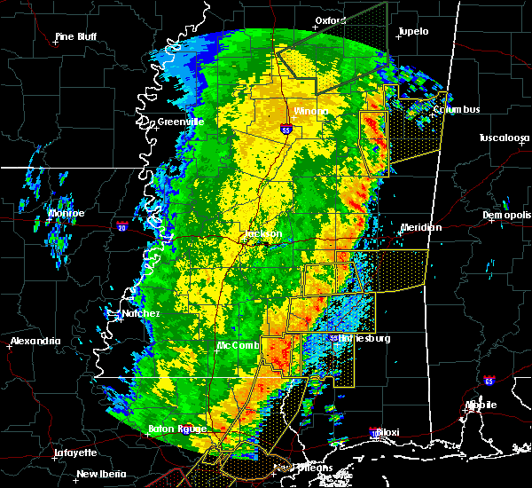 Radar Image for Severe Thunderstorms near Bay Springs, MS at 4/14/2018 10:00 AM CDT