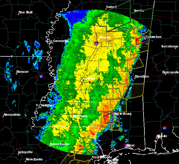 Radar Image for Severe Thunderstorms near Ellisville, MS at 4/14/2018 10:34 AM CDT