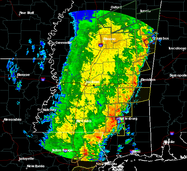 Radar Image for Severe Thunderstorms near Sandersville, MS at 4/14/2018 10:43 AM CDT