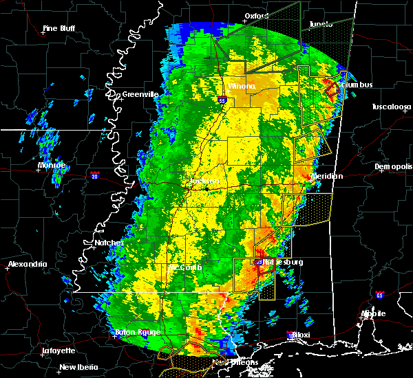 Radar Image for Severe Thunderstorms near Lauderdale, MS at 4/14/2018 10:52 AM CDT