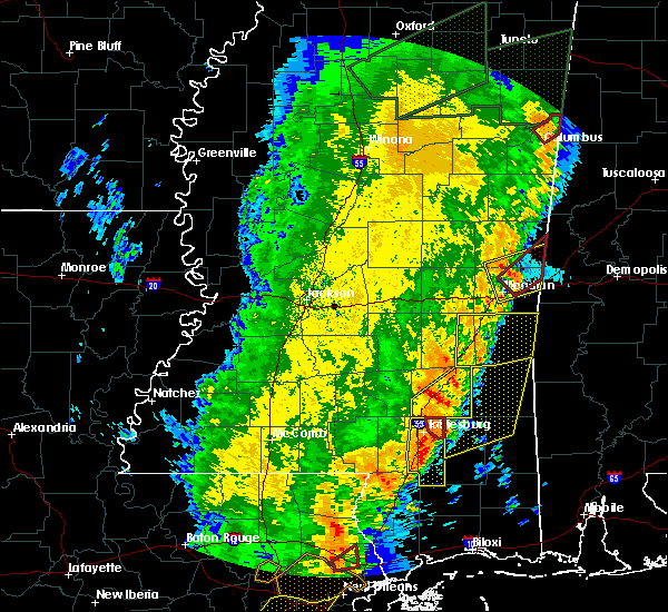 Radar Image for Severe Thunderstorms near Lauderdale, MS at 4/14/2018 11:04 AM CDT