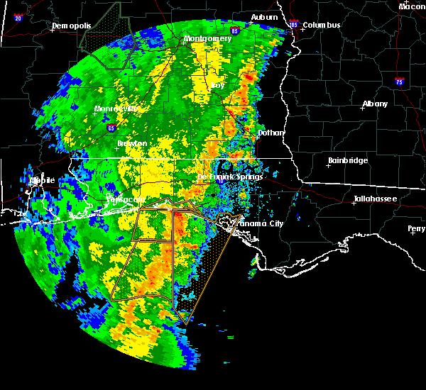 Radar Image for Severe Thunderstorms near Ponce de Leon, FL at 4/15/2018 2:32 AM CDT