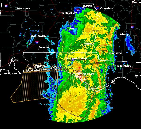 Radar Image for Severe Thunderstorms near Panama City, FL at 4/15/2018 6:12 AM CDT