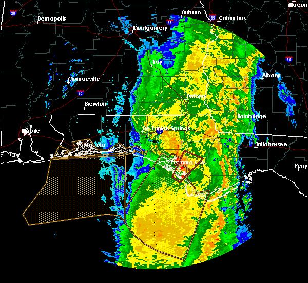 Radar Image for Severe Thunderstorms near Panama City, FL at 4/15/2018 6:24 AM CDT
