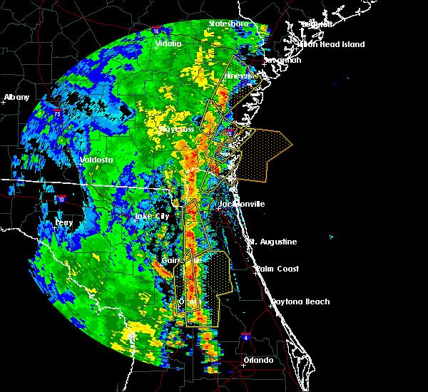 Radar Image for Severe Thunderstorms near Ocala, FL at 4/15/2018 2:45 PM EDT