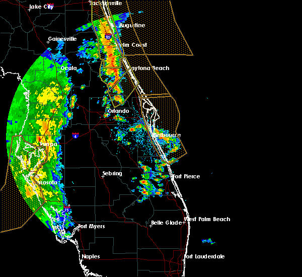 Radar Image for Severe Thunderstorms near South Daytona, FL at 4/15/2018 3:51 PM EDT