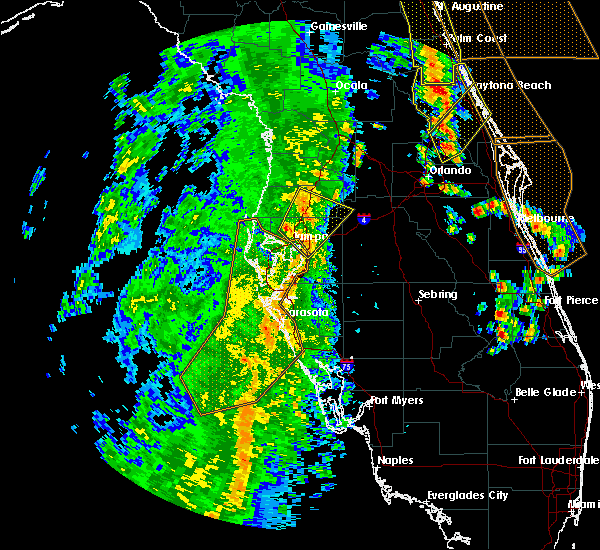 Radar Image for Severe Thunderstorms near Tampa, FL at 4/15/2018 3:51 PM EDT