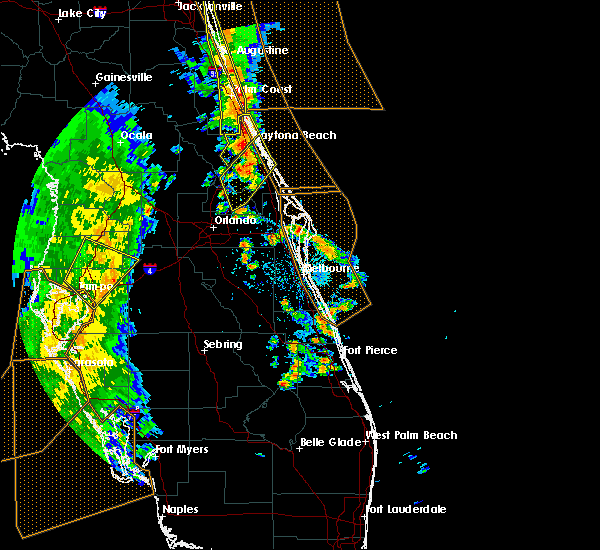 Radar Image for Severe Thunderstorms near South Daytona, FL at 4/15/2018 4:03 PM EDT