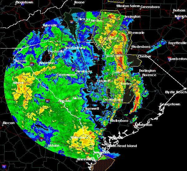 Radar Image for Severe Thunderstorms near Oswego, SC at 4/15/2018 4:06 PM EDT