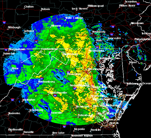 Radar Image for Severe Thunderstorms near Seat Pleasant, MD at 4/16/2018 2:44 AM EDT