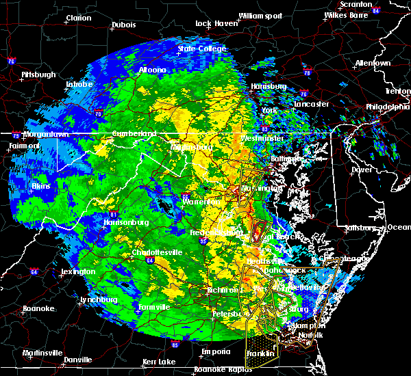 Radar Image for Severe Thunderstorms near Charlotte Hall, MD at 4/16/2018 2:54 AM EDT