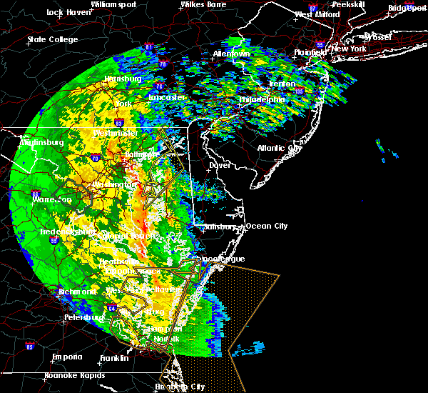 Radar Image for Severe Thunderstorms near Kent Narrows, MD at 4/16/2018 4:06 AM EDT