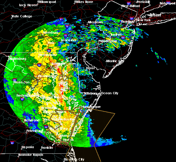 Radar Image for Severe Thunderstorms near Kingstown, MD at 4/16/2018 4:12 AM EDT