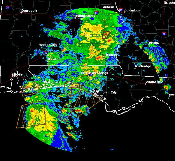 Radar Image for Severe Thunderstorms near Destin, FL at 4/22/2018 3:26 PM CDT