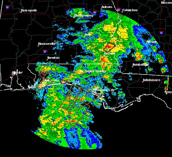 Radar Image for Severe Thunderstorms near Ocean City, FL at 4/22/2018 4:30 PM CDT