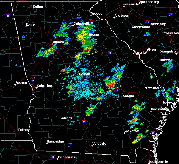Radar Image for Severe Thunderstorms near Adrian, GA at 4/23/2018 4:50 PM EDT