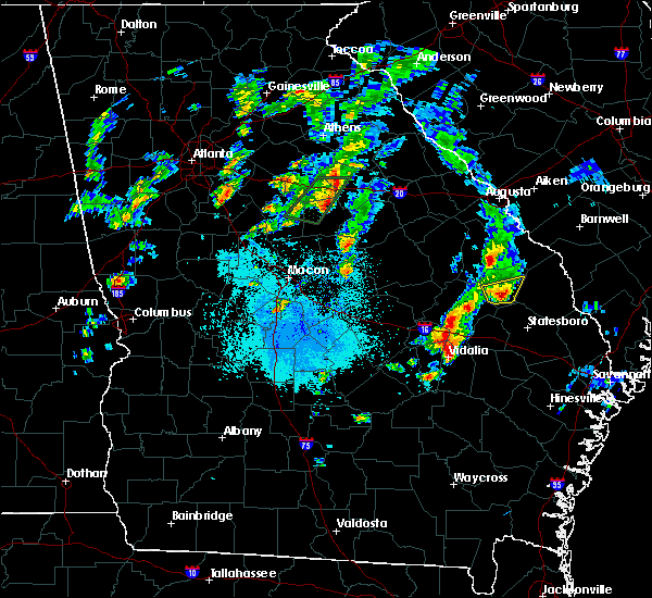 Radar Image for Severe Thunderstorms near Stillmore, GA at 4/23/2018 7:36 PM EDT