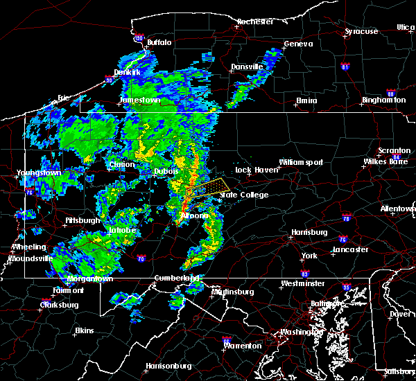 Radar Image for Severe Thunderstorms near Osceola Mills, PA at 4/27/2018 8:29 PM EDT