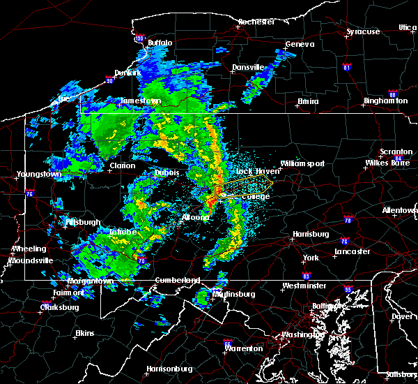 Radar Image for Severe Thunderstorms near Howard, PA at 4/27/2018 9:08 PM EDT
