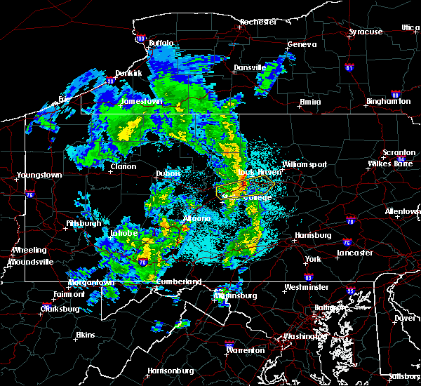 Radar Image for Severe Thunderstorms near Blanchard, PA at 4/27/2018 9:36 PM EDT