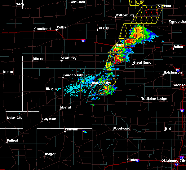 Radar Image for Severe Thunderstorms near Rush Center, KS at 5/1/2018 4:46 PM CDT