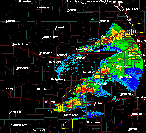 Radar Image for Severe Thunderstorms near Endicott, NE at 5/1/2018 6:32 PM CDT