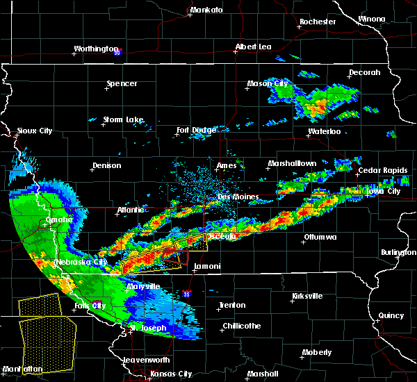 Radar Image for Severe Thunderstorms near Osceola, IA at 5/2/2018 6:38 PM CDT
