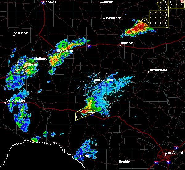 Radar Image for Severe Thunderstorms near Eldorado, TX at 5/2/2018 8:44 PM CDT