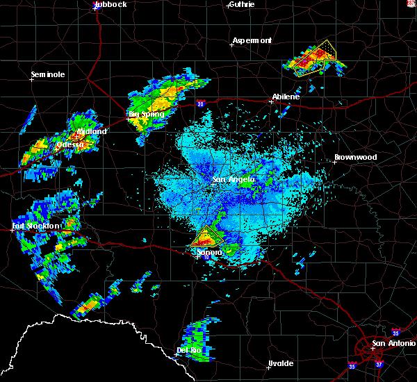 Radar Image for Severe Thunderstorms near Eldorado, TX at 5/2/2018 9:13 PM CDT
