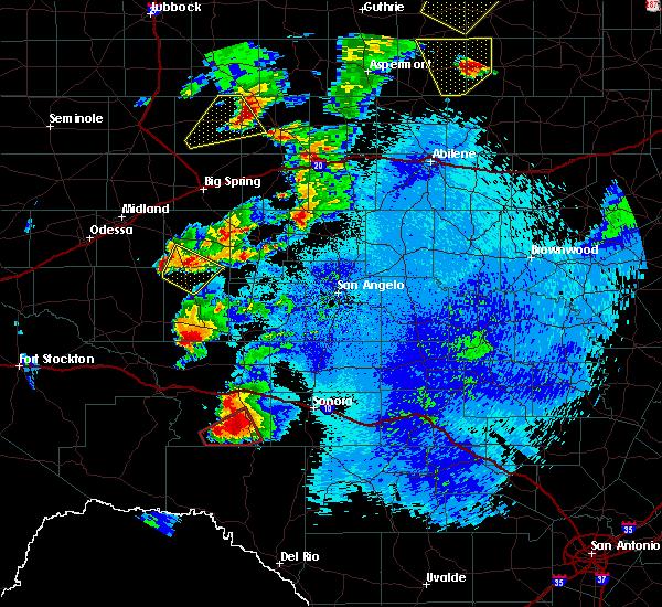 Radar Image for Severe Thunderstorms near Big Lake, TX at 5/2/2018 11:30 PM CDT