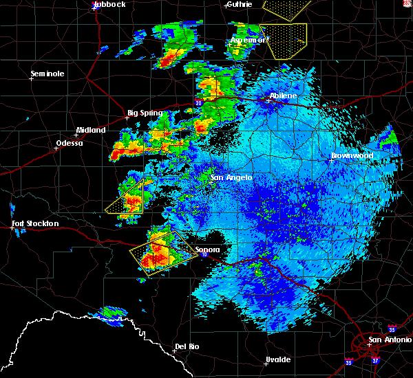 Radar Image for Severe Thunderstorms near Big Lake, TX at 5/2/2018 11:51 PM CDT