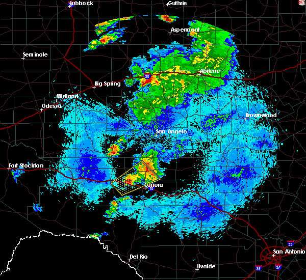 Radar Image for Severe Thunderstorms near Eldorado, TX at 5/3/2018 12:46 AM CDT