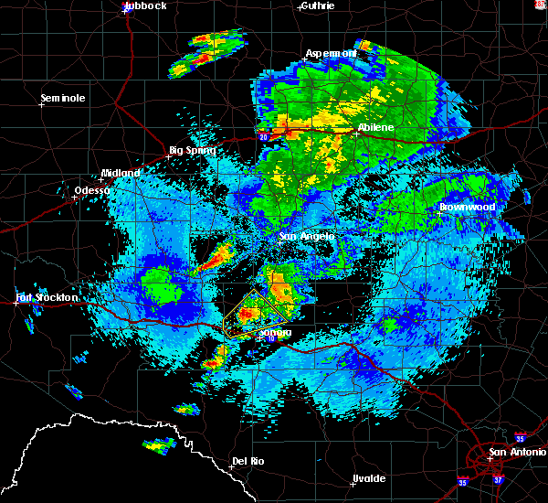 Radar Image for Severe Thunderstorms near Eldorado, TX at 5/3/2018 1:02 AM CDT