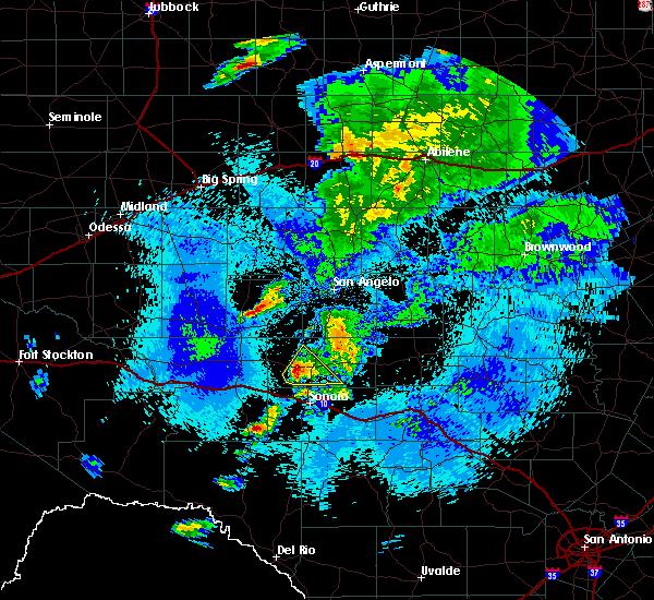 Radar Image for Severe Thunderstorms near Eldorado, TX at 5/3/2018 1:08 AM CDT