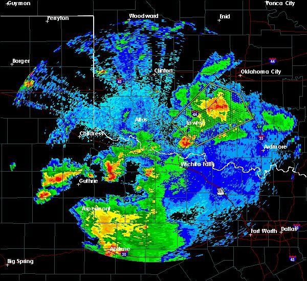 Radar Image for Severe Thunderstorms near Vernon, TX at 5/3/2018 1:37 AM CDT