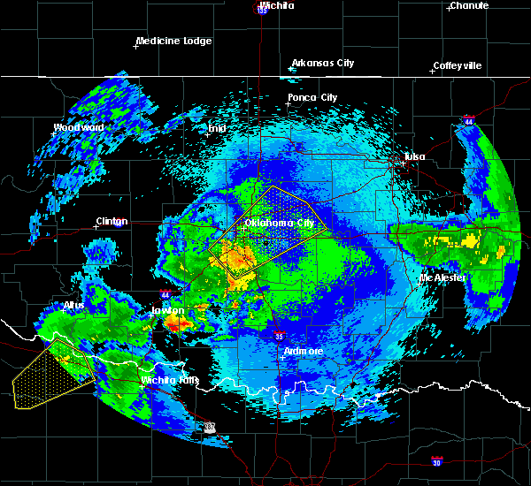 Radar Image for Severe Thunderstorms near Prague, OK at 5/3/2018 1:59 AM CDT