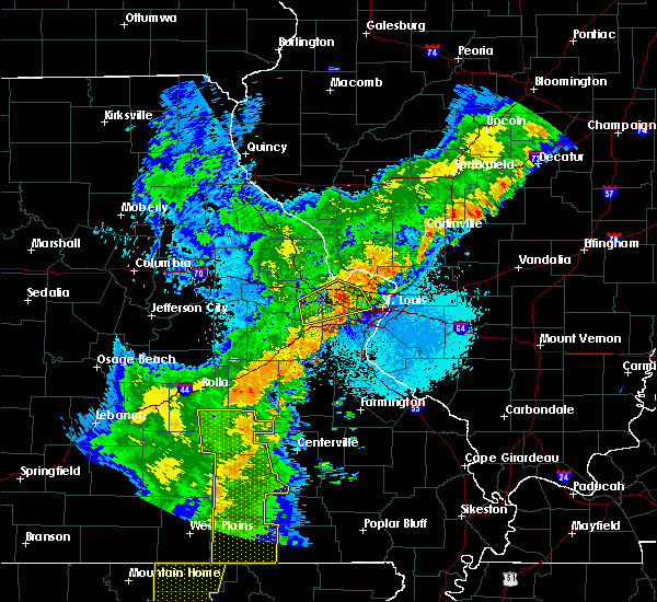 Radar Image for Severe Thunderstorms near St. Peters, MO at 5/3/2018 4:15 AM CDT