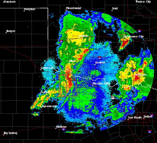 Radar Image for Severe Thunderstorms near Vernon, TX at 5/3/2018 5:13 AM CDT