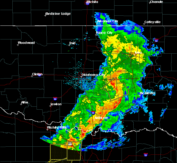 Radar Image for Severe Thunderstorms near Cromwell, OK at 5/3/2018 9:02 AM CDT
