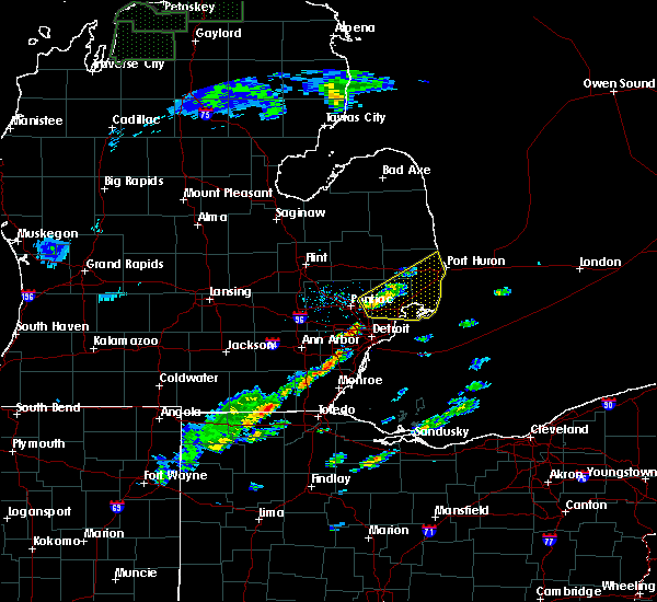 Radar Image for Severe Thunderstorms near Toledo, OH at 5/4/2018 1:11 PM EDT