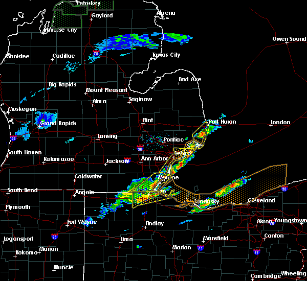 Radar Image for Severe Thunderstorms near Toledo, OH at 5/4/2018 1:35 PM EDT