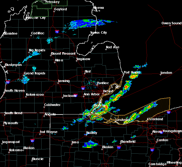 Radar Image for Severe Thunderstorms near Toledo, OH at 5/4/2018 1:53 PM EDT