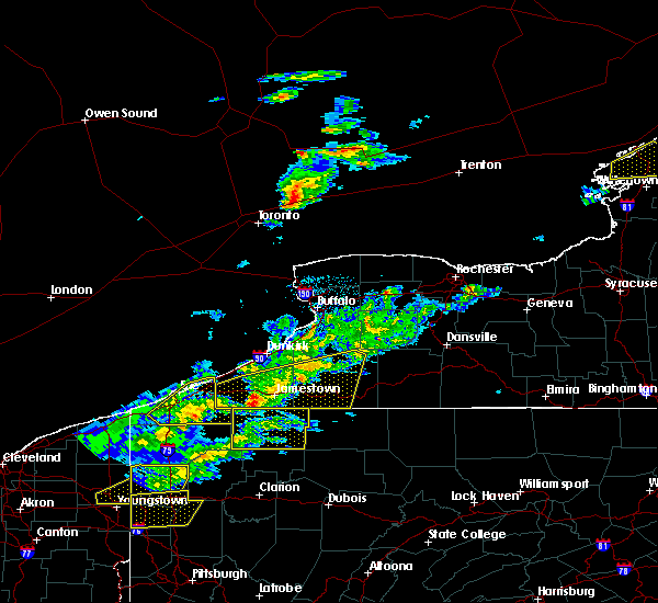 Radar Image for Severe Thunderstorms near Fairport, NY at 5/4/2018 4:13 PM EDT