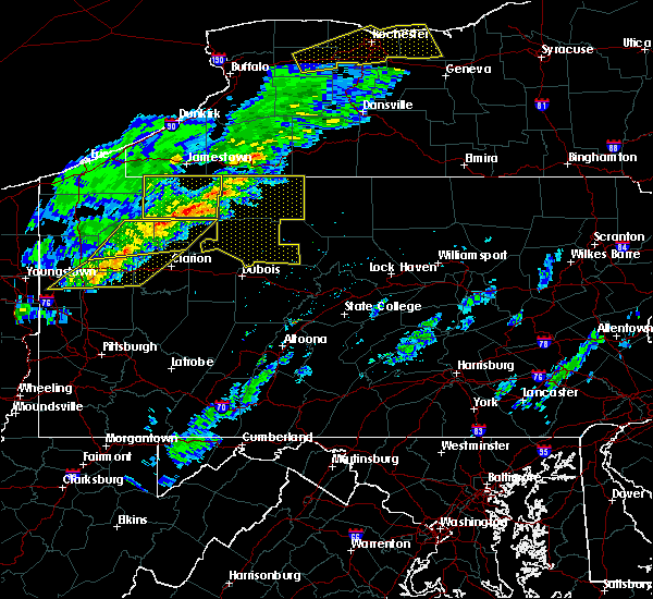 Radar Image for Severe Thunderstorms near Rew, PA at 5/4/2018 4:37 PM EDT