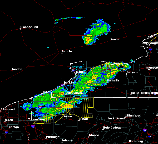 Radar Image for Severe Thunderstorms near Fairport, NY at 5/4/2018 4:40 PM EDT