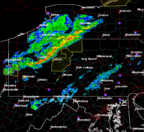 Radar Image for Severe Thunderstorms near Grassflat, PA at 5/4/2018 5:26 PM EDT