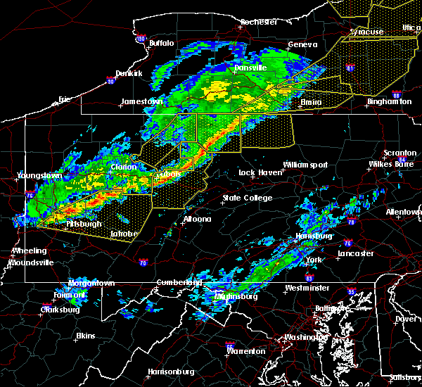 Radar Image for Severe Thunderstorms near Blanchard, PA at 5/4/2018 6:03 PM EDT