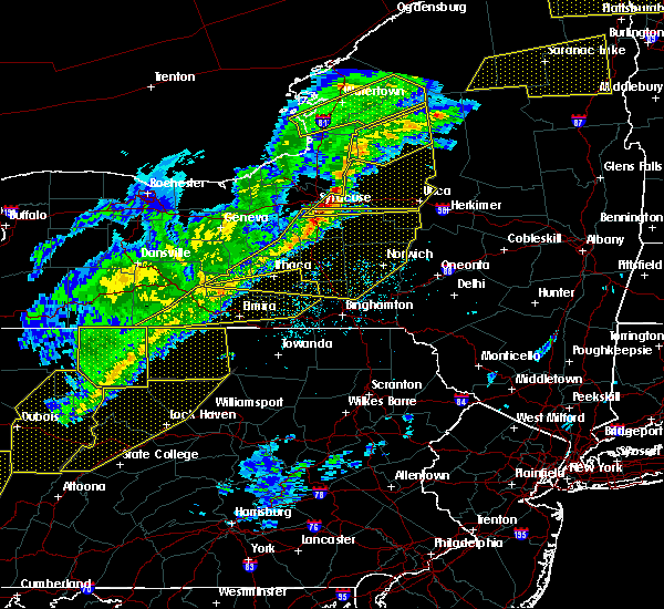Radar Image for Severe Thunderstorms near West Elmira, NY at 5/4/2018 6:06 PM EDT