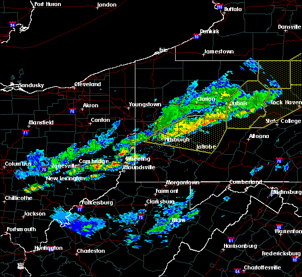 Radar Image for Severe Thunderstorms near Kittanning, PA at 5/4/2018 6:17 PM EDT