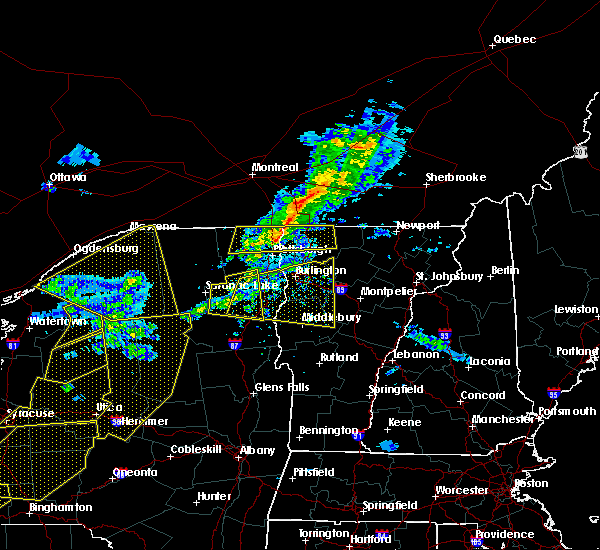 Radar Image for Severe Thunderstorms near Wilmington, NY at 5/4/2018 6:27 PM EDT